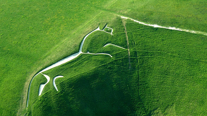 The Uffington White Horse in Wiltshire, England