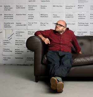 British artist Ryan Gander in his studio
