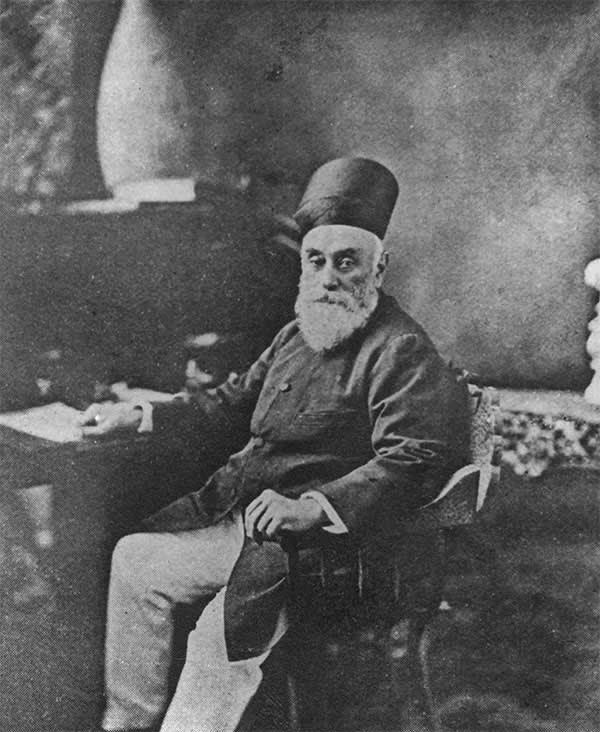 Indian industrialist Jamsetji Nusserwanji Tata (1839 - 1904), founder of Indian multinational corporation the Tata Group, circa 1890.  (Photo by Henry Guttmann/Hulton Archive/Getty Images)