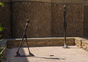 Giacometti sculptures at the Tehran Museum of Contemporary Art