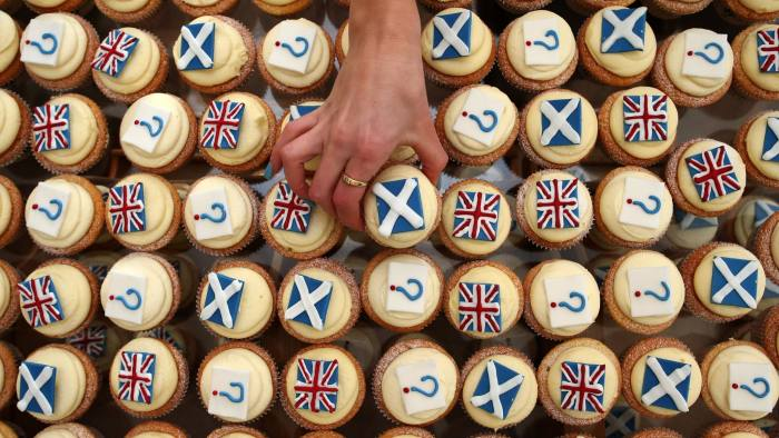 File photo dated 04/03/14 of Edinburgh bakery Cuckoos which launched their own referendum opinion poll survey with cupcakes. Campaigning on both sides continues with only a week to go before Scotland decides on independence. PRESS ASSOCIATION Photo. Issue date: Thursday September 11, 2014. See PA story REFERENDUM Main. Photo credit should read: Andrew Milligan/PA Wire