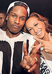 A$AP Rocky with Donna Karan
