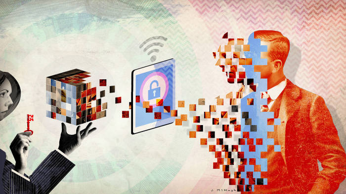data privacy Illustration for Global Business supplement - Financial Times