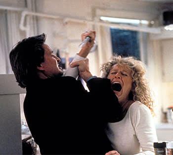 Michael Douglas and Glenn Close in 'Fatal Attraction'