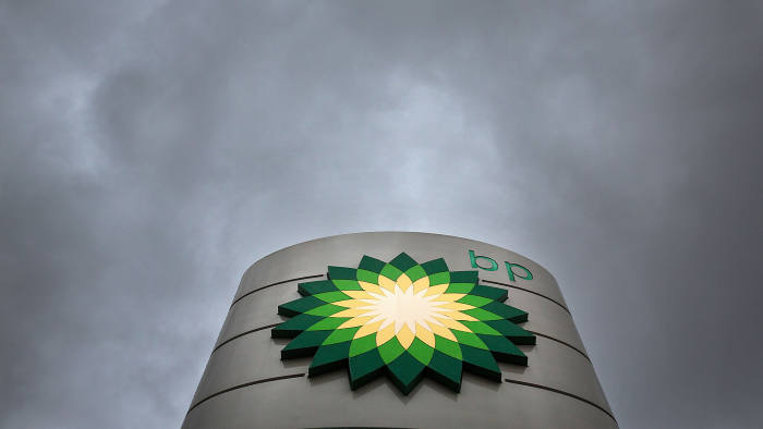 BP Plc Gas Stations As Company Reported A 91% Decline In Profit As Oil Slump Deepens...A BP Plc logo sits on a totem sign outside a gas station operated by BP Plc in London, U.K., on Tuesday, Feb 2., 2016. BP Plc reported a 91 percent decline in fourth-quarter earnings after average crude oil prices dropped to the lowest in more than a decade. The company's shares fell the most since August. Photographer: Simon Dawson/Bloomberg