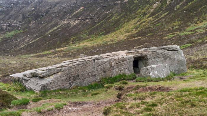 Dwarfie Stane on Hoy Island, Orkney