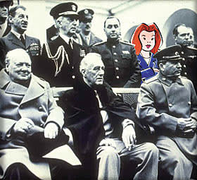 Mrs Moneypenny in the Yalta photograph