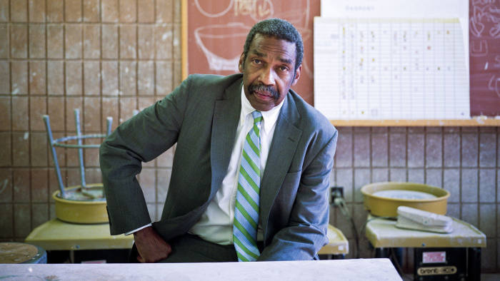 Bill Strickland in the ceramics classroom of his Manchester Bidwell centre, Pittsburgh