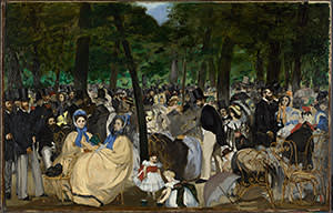 'Music in the Tuileries Garden' (1862) by Edouard Manet