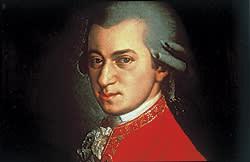 1754: Portrait of Wolfgang Amadeus Mozart circa 1780 painted by Johann Nepomuk della Croce