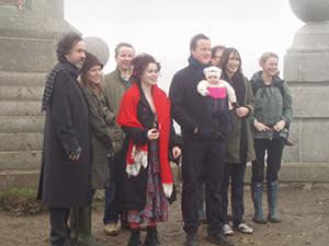 Michael Gove with David Cameron's family, Helena Bonham-Carter, Tim Burton