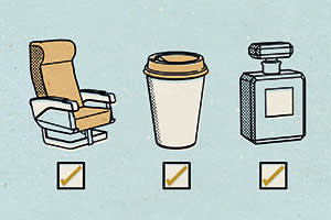 An illustration of in-flight services that used to be free