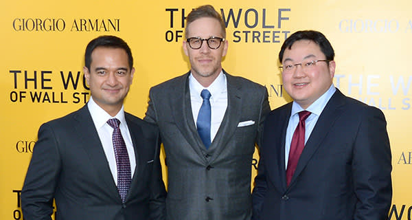 """NEW YORK, NY - DECEMBER 17: Producers Riza Aziz, Joey McFarland and Joe Low attend the """"The Wolf Of Wall Street"""" premiere at the Ziegfeld Theatre on December 17, 2013 in New York City. (Photo by Michael Loccisano/Getty Images)"""