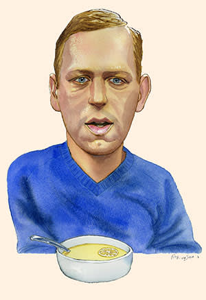 Illustration of Peter Thiel by James Ferguson