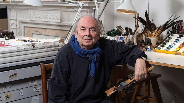 Quentin Blake in his studio April 7 2014