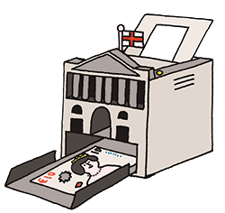 illustration of a printer