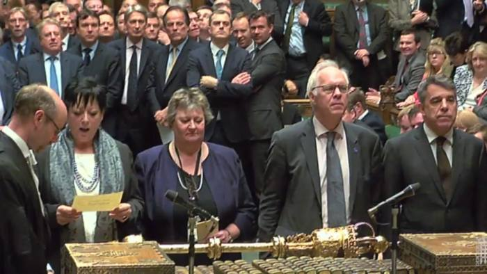 MPs return their result after voting to reject Lord's amendment on EU nationals rights in the House of Commons, London. PRESS ASSOCIATION Photo. Picture date: Monday March 13, 2017. See PA story POLITICS Brexit. Photo credit should read: PA Wire