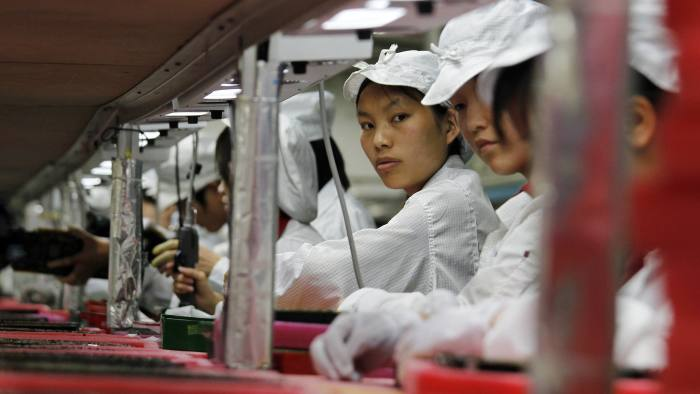 The students engaged in 'work experience' at the iPhone plant were training for careeres on the railways