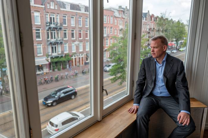 Political scientist André Krouwel, in his home in west Amsterdam: 'I don't see the traditional parties coming back. I see them fragmenting and collapsing ...Then we're in interesting times'