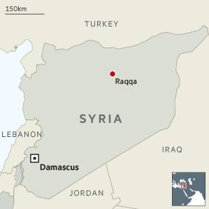 Raqqa locator map