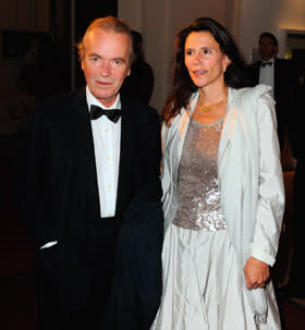 Martin Amis with his wife Isabel Fonseca, 2010