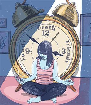 Illustration - meditating woman