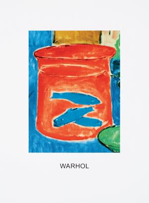 John Baldesarri's 'Double Vision: Warhol (Orange & Blue)'