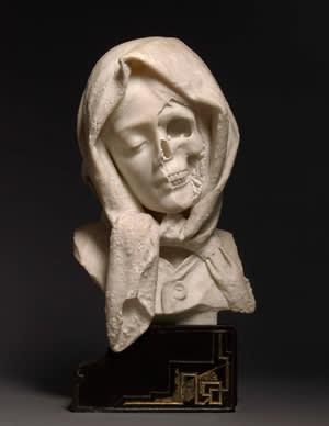 Italian marble head, 19th C