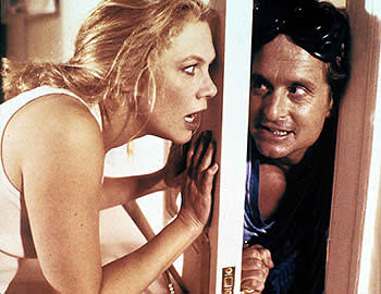 Kathleen Turner and Michael Douglas in 'The War of the Roses'