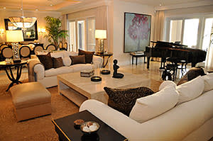 The living room with a grand piano