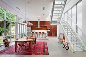 Living area inf Vik Muniz's home studio