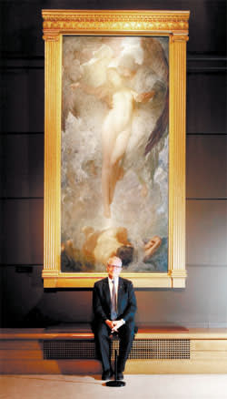 John Schaeffer in front of 'The Birth of Eve'