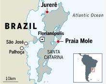 Map of Florianópolis, Santa Catarina, Brazil