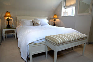 One of the bedrooms at The Five Alls