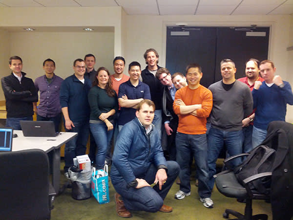 Brad Katsuyama (centre) and his team at IEX