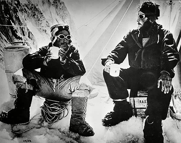 Tenzing Norgay and Edmund Hillary in May 1953