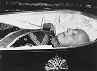 General Francisco Franco in his coffin