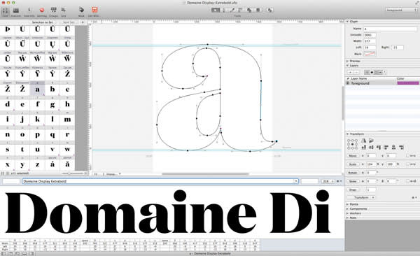 New shapes for letters in a series of fonts – Roman, Italic and Semibold Italic