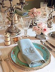 Place setting in dining room, by Moschino and Vergeylen
