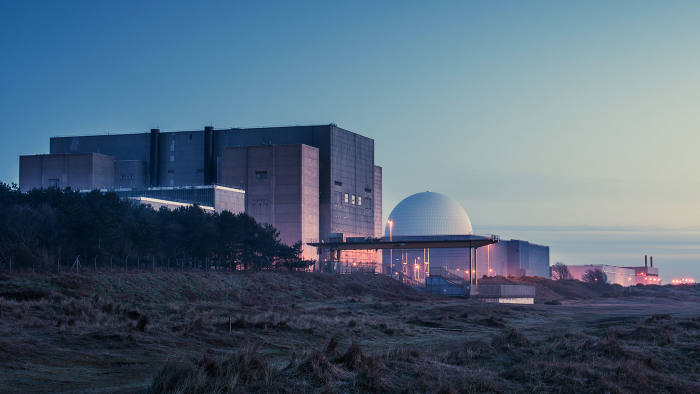 The Sizewell B nuclear power plant in Suffolk, England