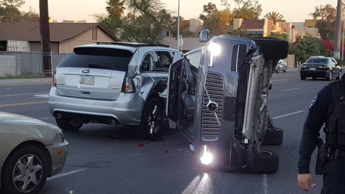 Uber self-driving car crashes during US tests | Financial Times