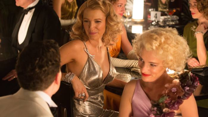 From left, Jesse Eisenberg (foreground), Blake Lively and Parker Posey in 'Café Society'