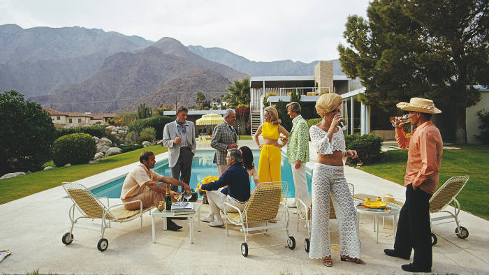A poolside party in Palm Springs, 1970