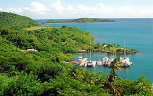Yachts at a dock in Grenada