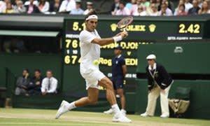 Rolex testimonee, Rodger Federer during Wimbledon 2015
