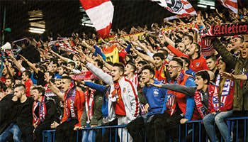 Atléti's most committed fans sing nonstop during games