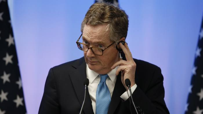 U.S. Trade Representative Robert Lighthizer attends a press conference at the end of the second round of NAFTA renegotiations, with Mexico and Canada, in Mexico City, Tuesday, Sept. 5, 2017. (AP Photo/Marco Ugarte)