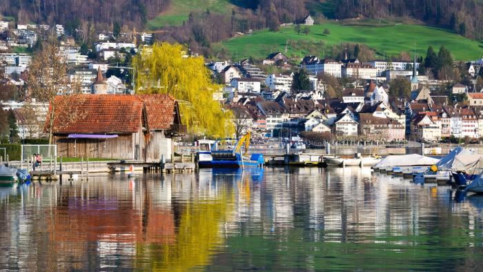 Zug and its lake, Switzerland.
