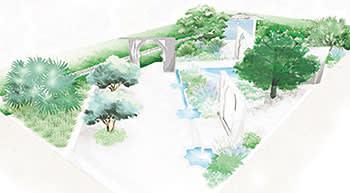 Illustration of Kamelia Bin Zaal's garden, The Beauty of Islam