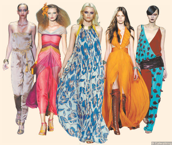 Models wearing maxi dress